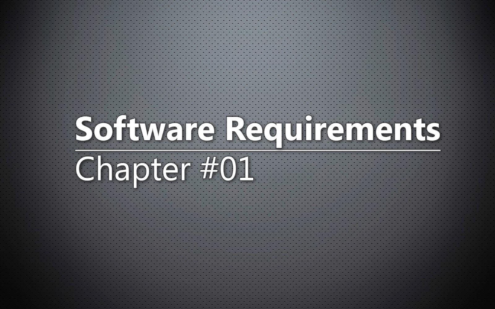 Software Requirements. Три уровня требований.